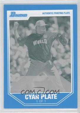 2007 Bowman Draft Picks & Prospects Future's Game Prospects Printing Plate Cyan Framed #BDPP70 - Emiliano Fruto /1