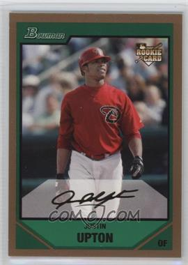 2007 Bowman Draft Picks & Prospects Gold #BDP3 - Justin Upton
