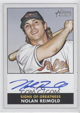 2007 Bowman Heritage - Signs of Greatness #SG-NR - Nolan Reimold