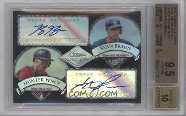 2007 Bowman Sterling - Dual Autographs - Black Refractor [Autographed] #BSDA-PB - Hunter Pence, Ryan Braun /25 [BGS 9.5]