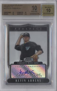 2007 Bowman Sterling - Prospects #BSP-KA - Kevin Ahrens [BGS 10]