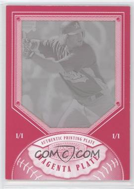 2007 Bowman Sterling Printing Plate Magenta #BS-TB - Travis Buck /1