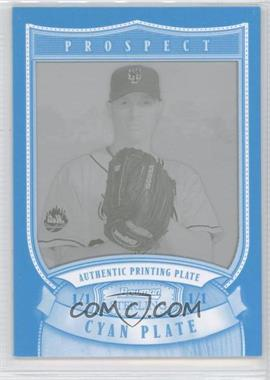 2007 Bowman Sterling Prospects Printing Plate Cyan #BSP-MDE - Mike Devaney /1