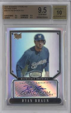 2007 Bowman Sterling Refractor #BS-RB - Ryan Braun /199 [BGS 9.5]