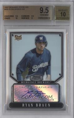 2007 Bowman Sterling #BS-RB - Ryan Braun [BGS 9.5]