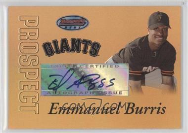 2007 Bowman's Best [???] #57 - Emmanuel Burriss /50