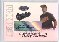 Autograph - Billy Rowell