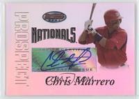 Autograph - Chris Marrero
