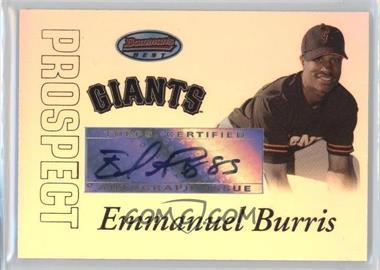 2007 Bowman's Best Prospects #BBP57 - Autograph - Emmanuel Burriss