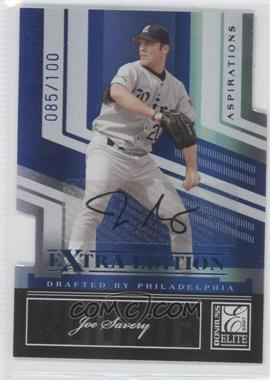 2007 Donruss Elite Extra Edition Aspirations Autographs #107 - Joe Savery /100