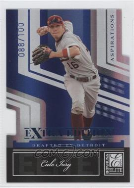 2007 Donruss Elite Extra Edition Blue Die-Cut Aspirations #11 - Cale Iorg /100