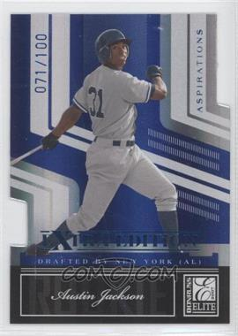 2007 Donruss Elite Extra Edition Blue Die-Cut Aspirations #141 - Austin Jackson /100