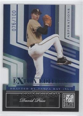 2007 Donruss Elite Extra Edition Blue Die-Cut Aspirations #5 - Daniel Prieto /100