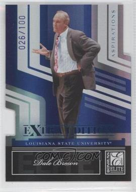 2007 Donruss Elite Extra Edition Blue Die-Cut Aspirations #67 - Dale Brown /100