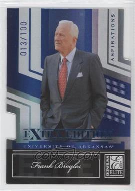 2007 Donruss Elite Extra Edition Blue Die-Cut Aspirations #70 - Frank Brooks /100
