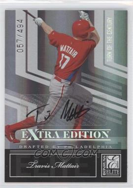 2007 Donruss Elite Extra Edition Turn of the Century Autographs #40 - Travis Mattair /494