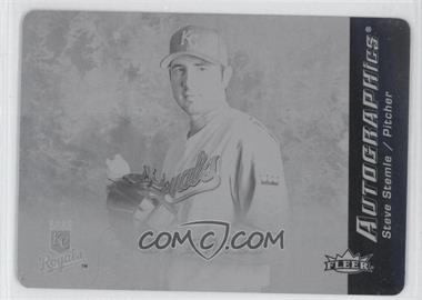 2007 Fleer Autographics Printing Plate Black Non-Autographed #SS - Steve Stemle /1