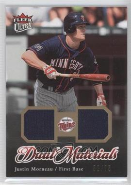 2007 Fleer Ultra Dual Materials Gold #DM-JM - Justin Morneau /75