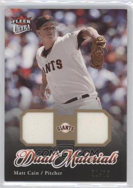 2007 Fleer Ultra Dual Materials Gold #DM-MC - Matt Cain /75