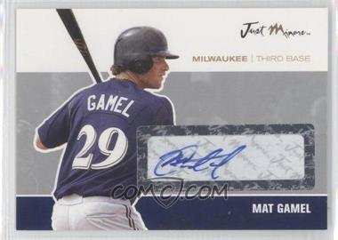 2007 Just Minors Just Autographs Silver Autographs [Autographed] #JA-15 - Mat Gamel /10