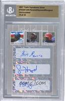 Ben Revere, Jason Heyward, Michael Burgess /25 [BGS AUTHENTIC]