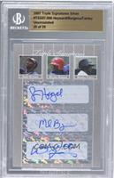 Jason Heyward, Michael Burgess, Wendell Fairley /25 [BGS AUTHENTIC]