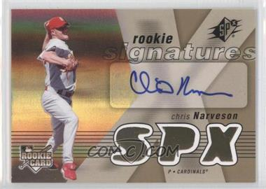 2007 SPx - [Base] #121 - Rookie Signatures - Chris Narveson
