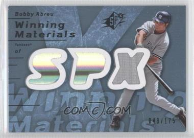 2007 SPx Winning Materials Blue #WM-BA - Bobby Abreu /175