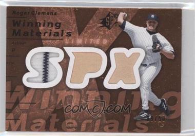 2007 SPx Winning Materials Limited Bronze Patches #WM-CL - Roger Clemens /50