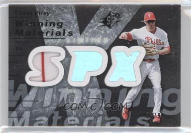 2007 SPx Winning Materials Limited Silver Patches #WM-CU - Chase Utley /99
