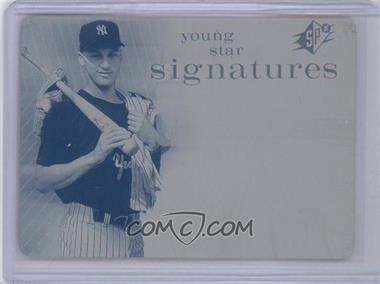 2007 SPx Young Star Signatures Printing Plate Cyan Non-Autographed #YS-DJ - Derek Jeter /1