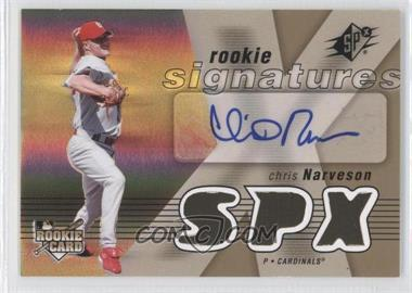 2007 SPx #121 - Rookie Signatures - Chris Narveson