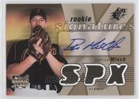 Rookie Signatures - Patrick Misch