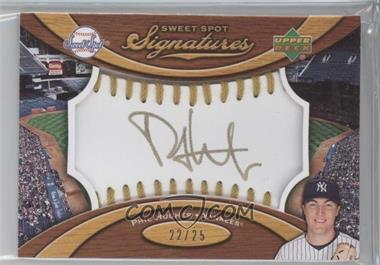 2007 Sweet Spot Signatures Ball Gold Stitching Gold Ink #SS-PH - Phil Hughes /25