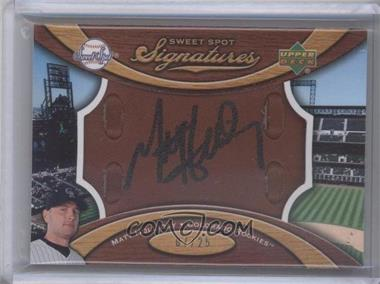 2007 Sweet Spot Signatures Brown Leather Black Ink #SS-MH - Matt Holliday /25