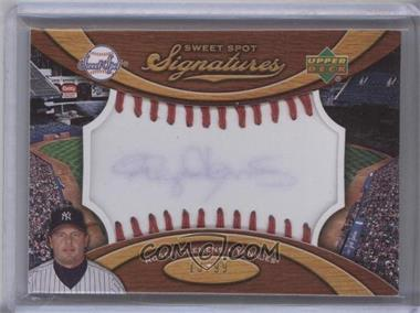 2007 Sweet Spot Signatures Red Stitch Blue Ink #SS-RC - Roger Clemens /99