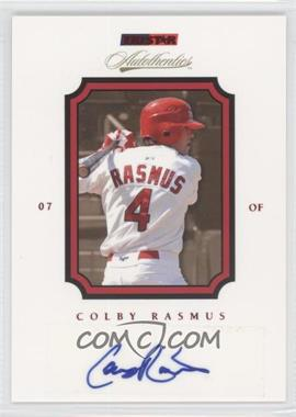 2007 TRISTAR Autothentics - [Base] - Red Autographs [Autographed] #70 - Colby Rasmus /50