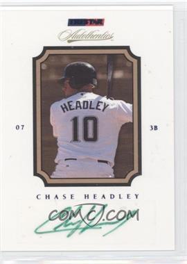 2007 TRISTAR Autothentics Autographs Blue #68 - Chase Headley /250