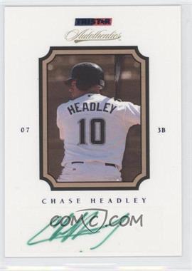 2007 TRISTAR Autothentics Blue Autographs [Autographed] #68 - Chase Headley /250
