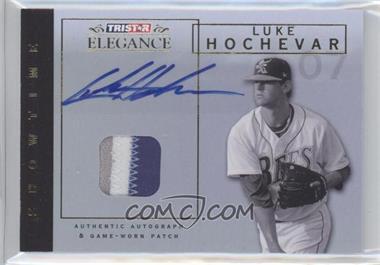 2007 TRISTAR Elegance - Showtime - Game-Worn Gold Patch Autographs [Autographed] #ST-LH - Luke Hochevar /5