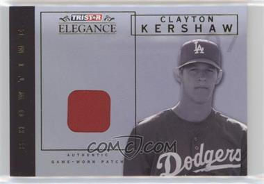 2007 TRISTAR Elegance - Showtime - Game-Worn Parallel Patch #ST-CK - Clayton Kershaw /25