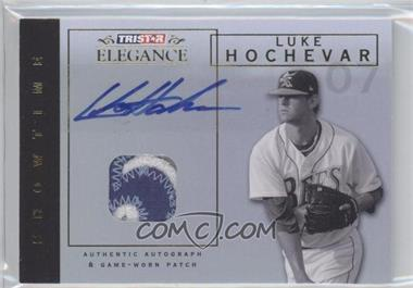 2007 TRISTAR Elegance Showtime Game-Worn Gold Patch Autographs [Autographed] #ST-LH - Luke Hochevar /5