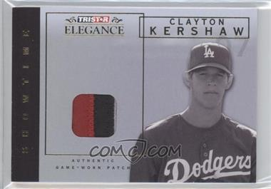 2007 TRISTAR Elegance Showtime Game-Worn Parallel Patch #ST-CK - Clayton Kershaw /25