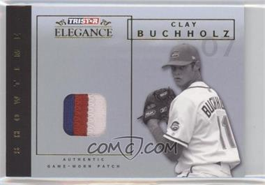 2007 TRISTAR Elegance Showtime Game-Worn Patch #ST-CLL - Clay Buchholz