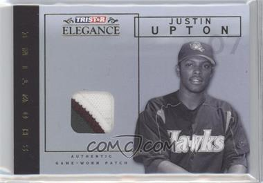 2007 TRISTAR Elegance Showtime Game-Worn Patch #ST-JU - Justin Upton