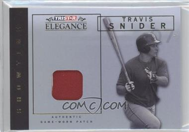 2007 TRISTAR Elegance Showtime Game-Worn Patch #ST-TS - Travis Snider