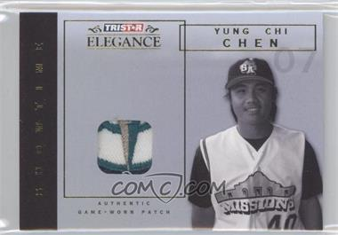 2007 TRISTAR Elegance Showtime Game-Worn Patch #ST-YCC - Yung Chi Chen