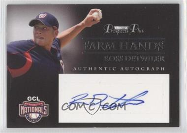 2007 TRISTAR Prospects Plus Farm Hands Authentic Autograph #FH-RD - Ross Detwiler