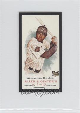 2007 Topps Allen & Ginter's Mini Black Border #199 - Alejandro De Aza