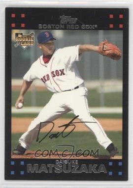 2007 Topps Boston Red Sox #BOS1 - Daisuke Matsuzaka